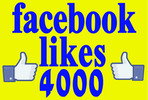 Thumbnail I will get you 4000 genuine facebook fans likes